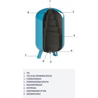 Гидроаккумулятор вертикальный CIMM AFE CE 60 (с держателем мембраны) (620060/010)