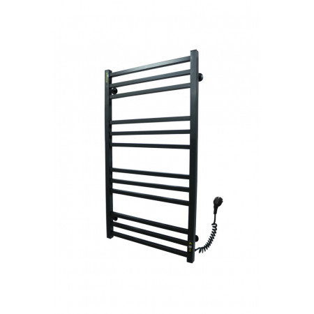 Полотенцесушитель Лесенка Велди 1000х500/12 ЕR тайм. нержавеющая сталь (черный)