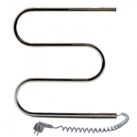 Электрический полотенцесушитель NAVIN Змеевик 500х500 левый с кнопкой (10-000100-5050)