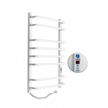 Электрический полотенцесушитель NAVIN Симфония Квадро Digital 480х800 левый с таймером (12-009152-4880)