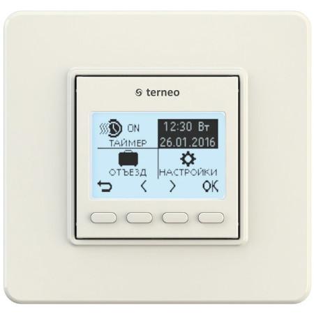 Комнатный терморегулятор TERNEO pro, слоновая кость, без датчика температуры пола