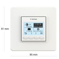 Комнатный терморегулятор TERNEO pro, белый, без датчика температуры пола