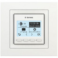 Комнатный терморегулятор TERNEO pro unic, белый, без датчика температуры пола