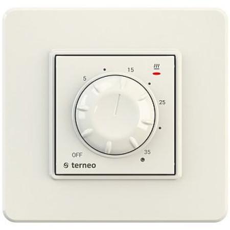 Комнатный терморегулятор TERNEO rol, слоновая кость