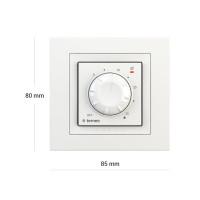 Комнатный терморегулятор TERNEO rol unic, белый