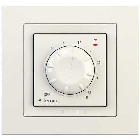 Комнатный терморегулятор TERNEO rol unic, слоновая кость